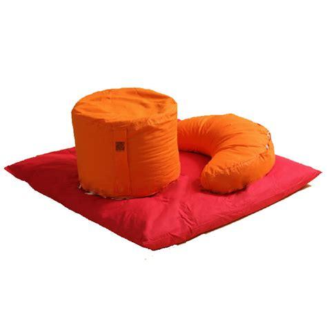 cuscini meditazione set 3 cuscini meditazione in di farro