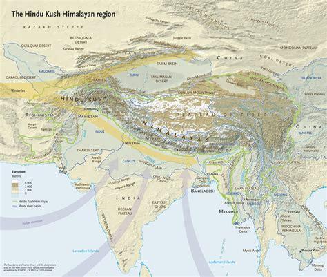 map of himalayan ranges climate atlas maps himalayas future scidev net south asia