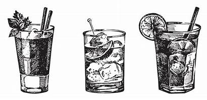 Clipart Cocktail Drawing Gin Drink Sketch Cocktails