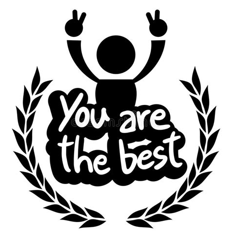 Icon You Are The Best Stock Vector Illustration Of Comic