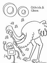 Coloring Pages Ostrich Alphabet Printable Oboe Animal Storybots Activity Info Activities Children Letters Sheets Popular Bestcoloringpagesforkids sketch template