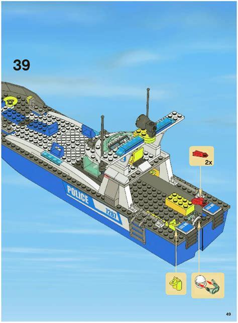 Lego Batman Boat Instructions by Lego Police Boat Instructions 7287 City