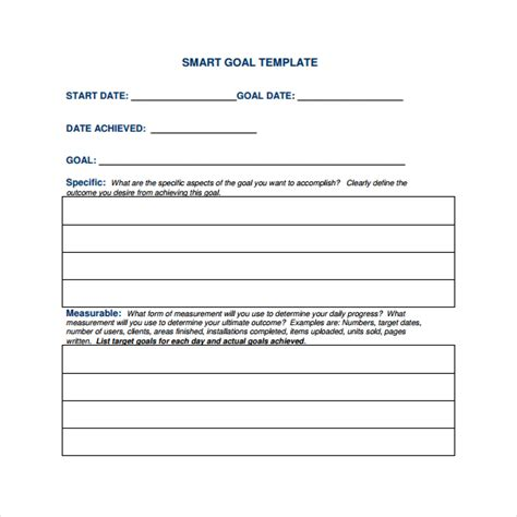 smart goals template for 16 sle smart goals templates to sle templates