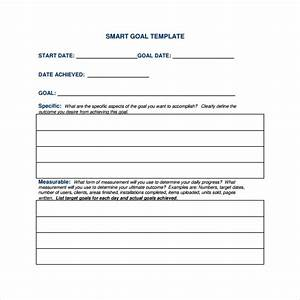 16 sample smart goals templates to download sample templates With smart goals template for employees