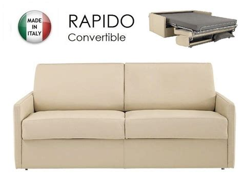 canape lit 2 places convertible canape lit 2 3 places sun convertible ouverture rapido 120cm cuir vachette beige