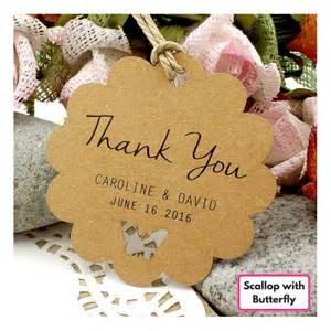 Thank You Wedding Favor Gift Tags