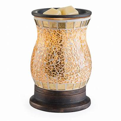 Warmer Gilded Glass Candle