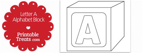 printable letter  alphabet block template printable