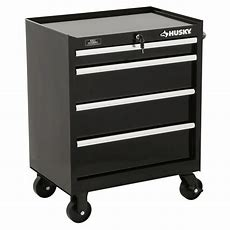 Husky 27 In W 4drawer Tool Cabinet In Blackh4tr1r  The