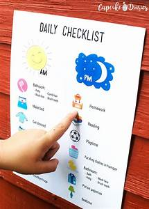 Printable Family Routine Chart Printable Daily Checklist For Kids Charts For Kids