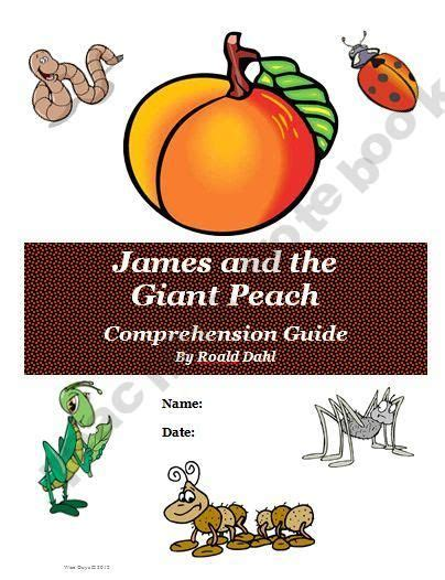 james and the giant peach reading novel unit 3rd 5th