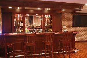 Custom Basement Pub Bar - Transitional - Basement