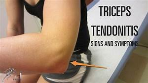 Triceps Tendonitis  Signs  Symptoms And Treatment Options