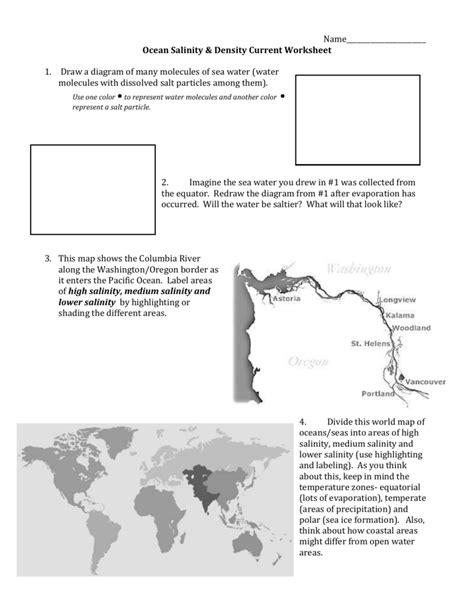 Worksheets Ocean Current Worksheet Waytoohuman Free Worksheets For Kids & Printables
