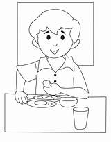 Breakfast Coloring Pages Print sketch template