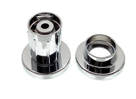 adjustable shower curtain rod holder in chrome danco