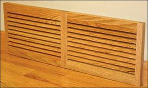 wood louvered baseboard air vent
