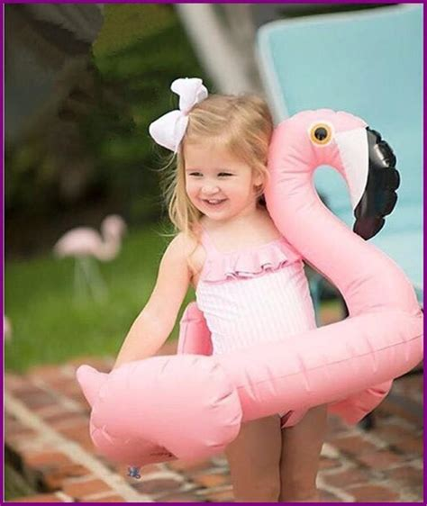 pink flamingo pool float inflatable swan swimming ring