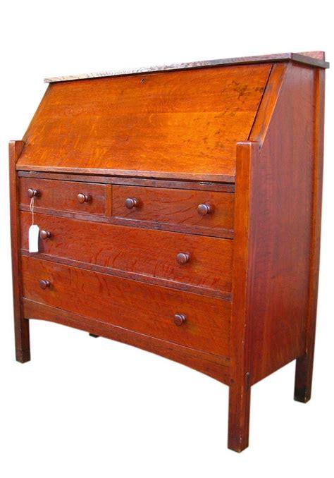 superb antique ljg stickley large drop front desk mission