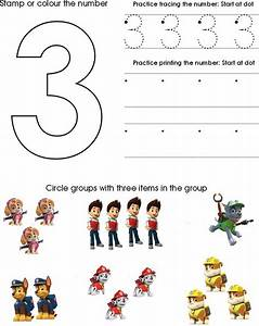 paw patrol number worksheet 3 homeschool pinterest With paw patrol learning letters