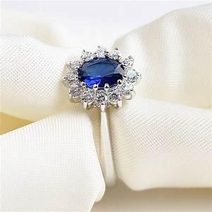 luxury palace princess diana blue stone wedding rings 18k With blue stone wedding rings