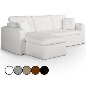 canapé avec pouf amovible unique canape d angle convertible gris et blanc comparer 398 offres
