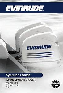 Evinrude 100 Operator U0026 39 S Manual Pdf Download