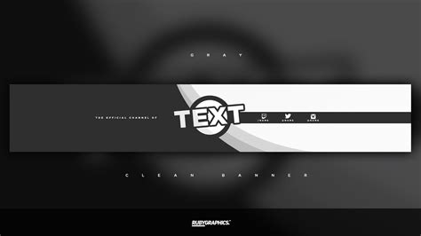 gfx  photoshop banner template clean  gray