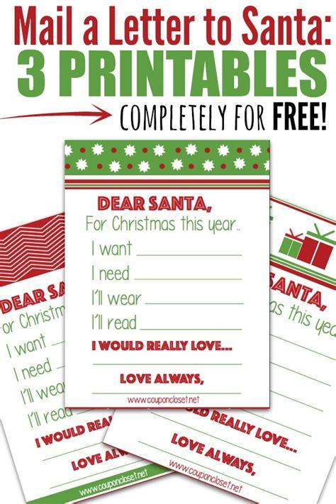 free santa letter printables mail a letter to santa