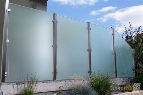 Terrasse Mit Sichtschutz by Sichtschutz Aus Glas F 252 R Den Garten Glasprofi24