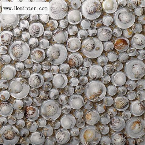 Glass Mosaic Resin Conch Tiles Backsplash Penny Round