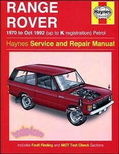 Shop Manual Range Land Rover Service Repair Book Haynes