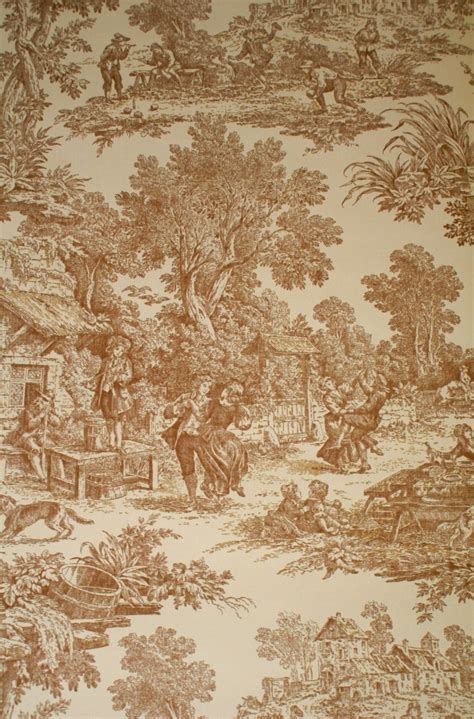 LAURA ASHLEY DESIGNER TOILE WALLPAPER   608F   LY4337