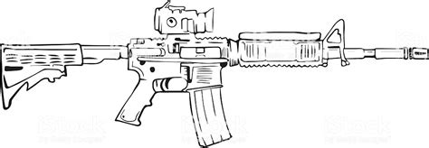 M16 Rifle Comic Style Drawing Stock Vector Art & More