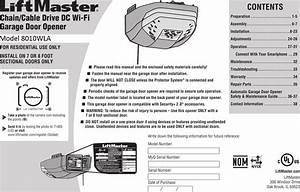 Liftmaster Garage Door Opener Instruction Manual