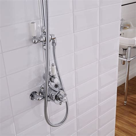 Thermostatic Shower Faucet by Traditional Grand Rigid Riser Kit With Thermostatic