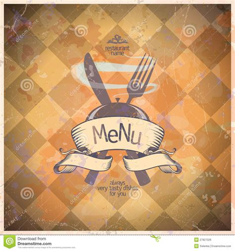 retro restaurant menu card design royalty  stock