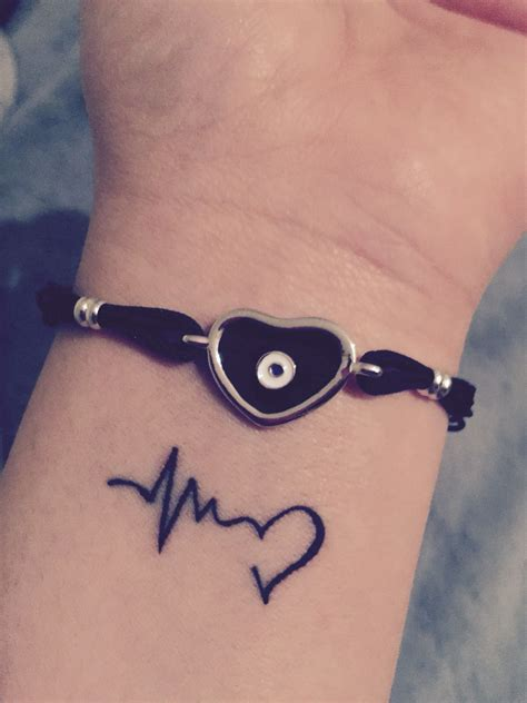 wrist tattoo heartbeat love life tattoo tattoo