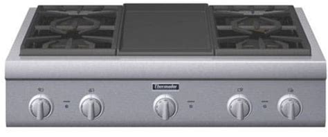 thermador pcggd   pro style gas rangetop   pedestal star burners griddle  grill