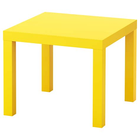 yellow table l base lack side table yellow 55x55 cm ikea