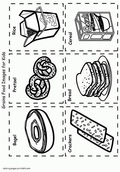 Coloring Pages Healthy Grains Printable Groups Mini