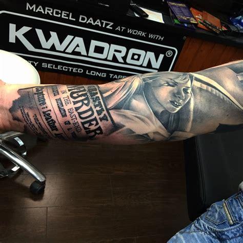 news parer realistic arm tattoo  tattoo ideas gallery