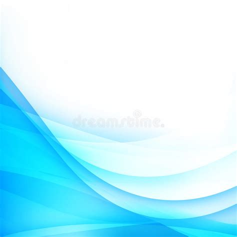 abstract background light blue curve and wave element vector ill stock vector illustration of