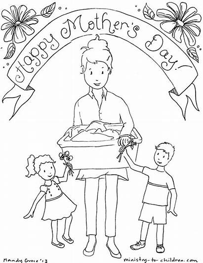 Coloring Mothers Happy Mother Pages Printable Pdf