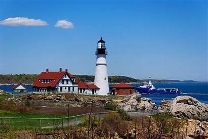 Portland Lighthouse Maine Head Oregon Usa Cape