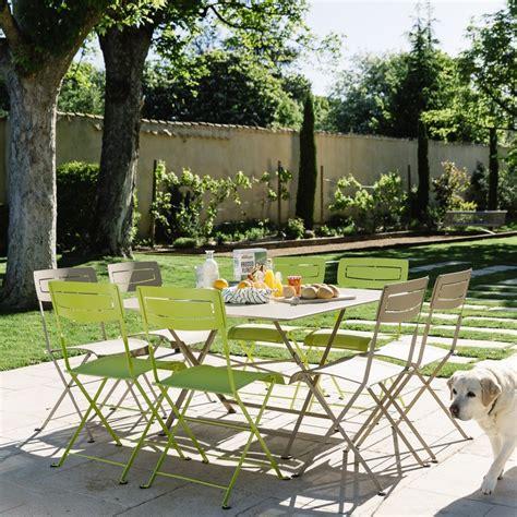 Tables De Jardin Fermob Salon De Jardin Fermob Table L128 L128 Cm 8 Chaises