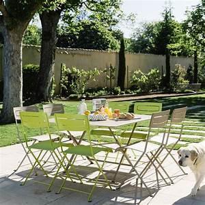 salon de jardin fermob table l128 l128 cm 8 chaises With salon de jardin fermob