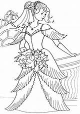 Bride Coloring Pages sketch template