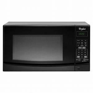Whirlpool 0 7 Cu  Ft  Countertop Microwave In Black