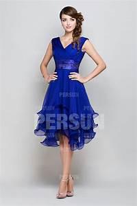 Robe Bleu Demoiselle D Honneur : robe demoiselle d honneur courte bleu royale d collet e en v ~ Dallasstarsshop.com Idées de Décoration